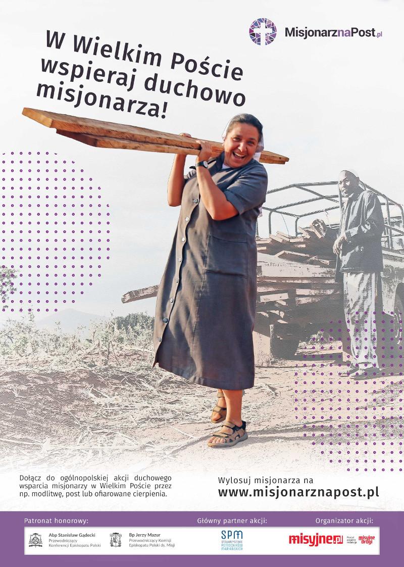 Misjonarz na Post 2020 - plakat